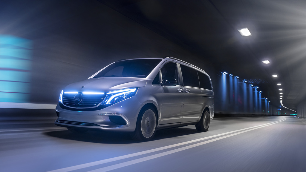 Minivan For Sale >> 2020 Mercedes-Benz EQV: Electric minivan previewed by concept car | Between the Axles