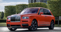 Rolls-Royce Cullinan Fux Orange inspired by ladies wrap
