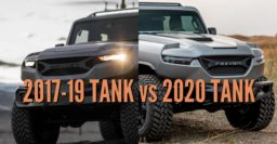 2020 Rezvani Tank vs 2017-2019: Differences compared side by side