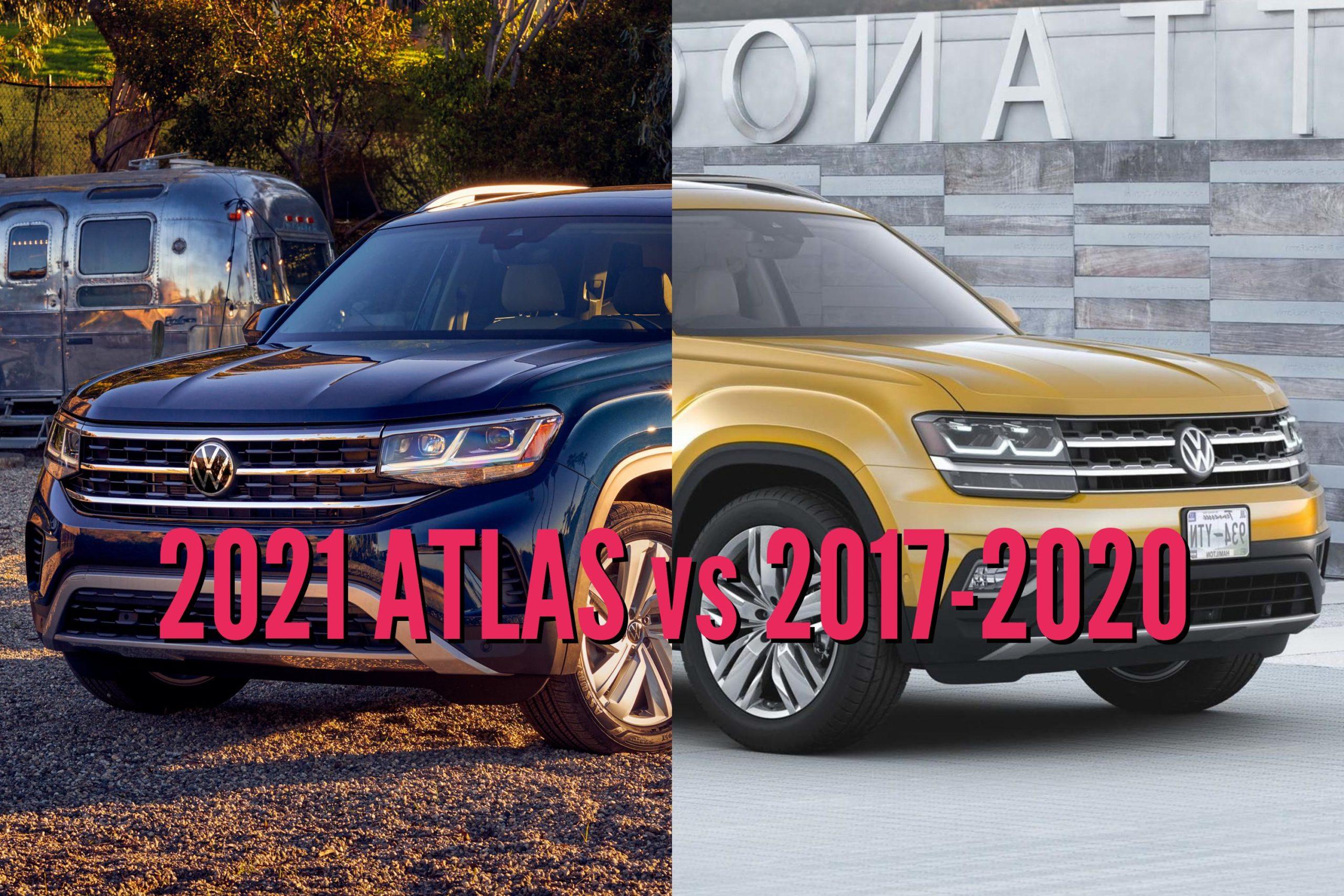 2021 Volkswagen Atlas vs 2017-2020: Facelift changes ...