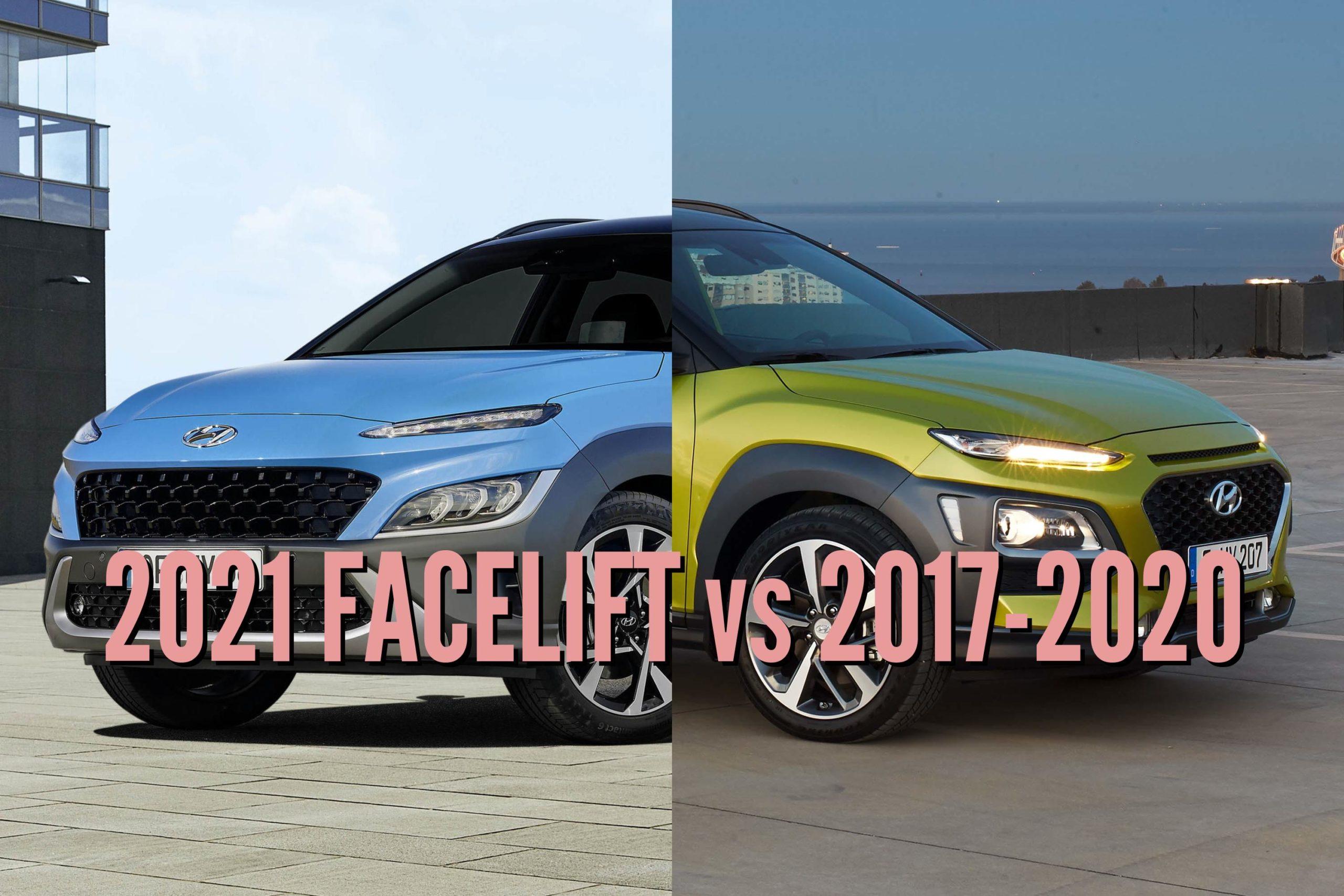 2021 Hyundai Kona vs 2017-2020: Facelift changes & differences