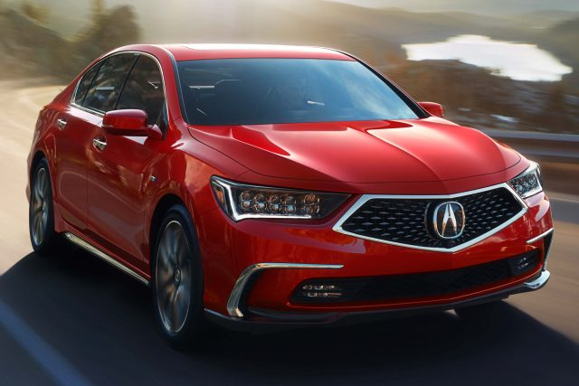 2018 Acura RLX SH-AWD facelift - red, front