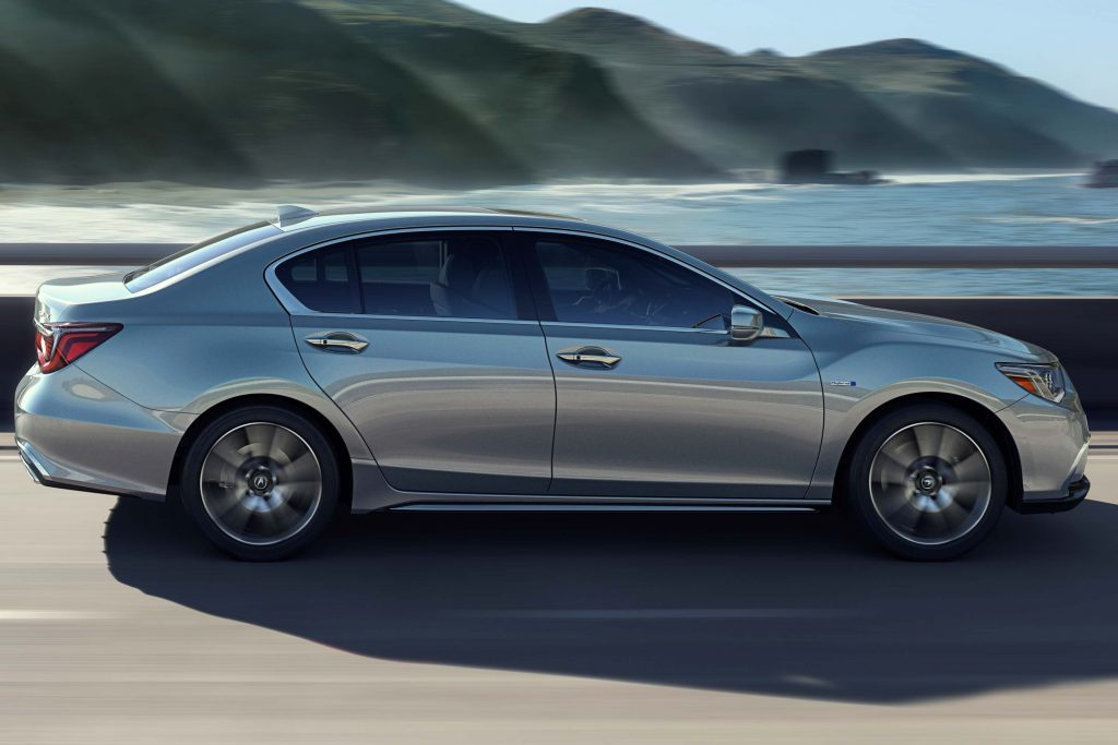2018 Acura RLX SH-AWD facelift - silver, side