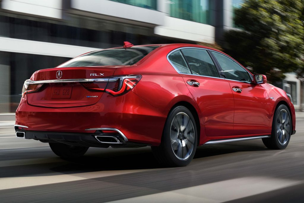 2018 Acura RLX SH-AWD facelift - rear, red