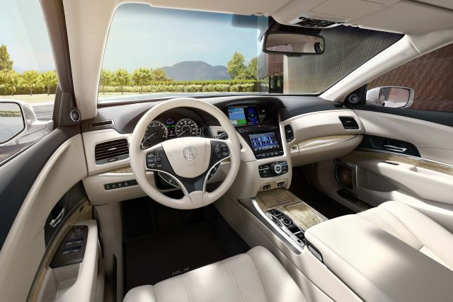 2018 Acura RLX SH-AWD facelift - interior, dashboard, white leather