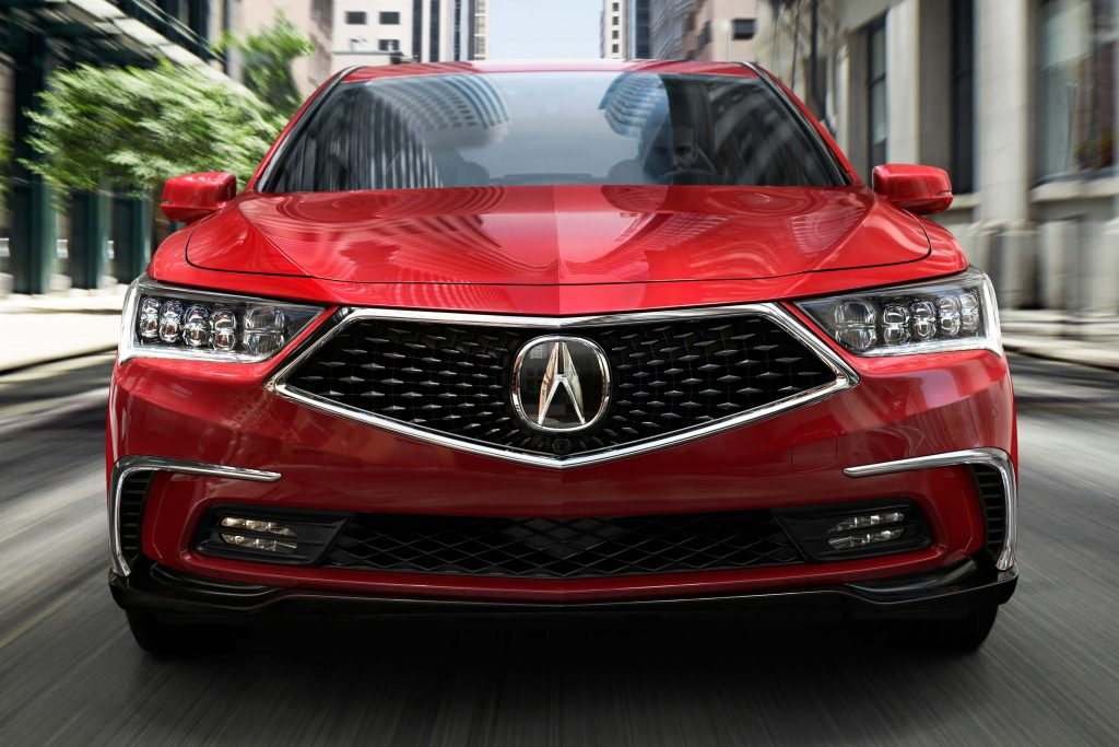 2018 Acura RLX SH-AWD facelift - grille, headlamps