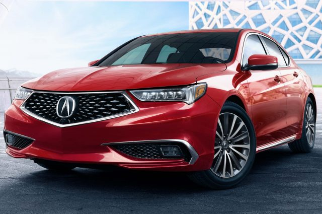 2018 Acura TLX - front, red