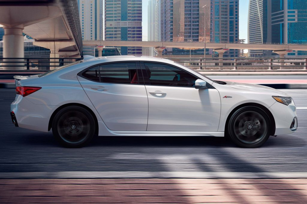 2018 Acura TLX A-Spec - white, side
