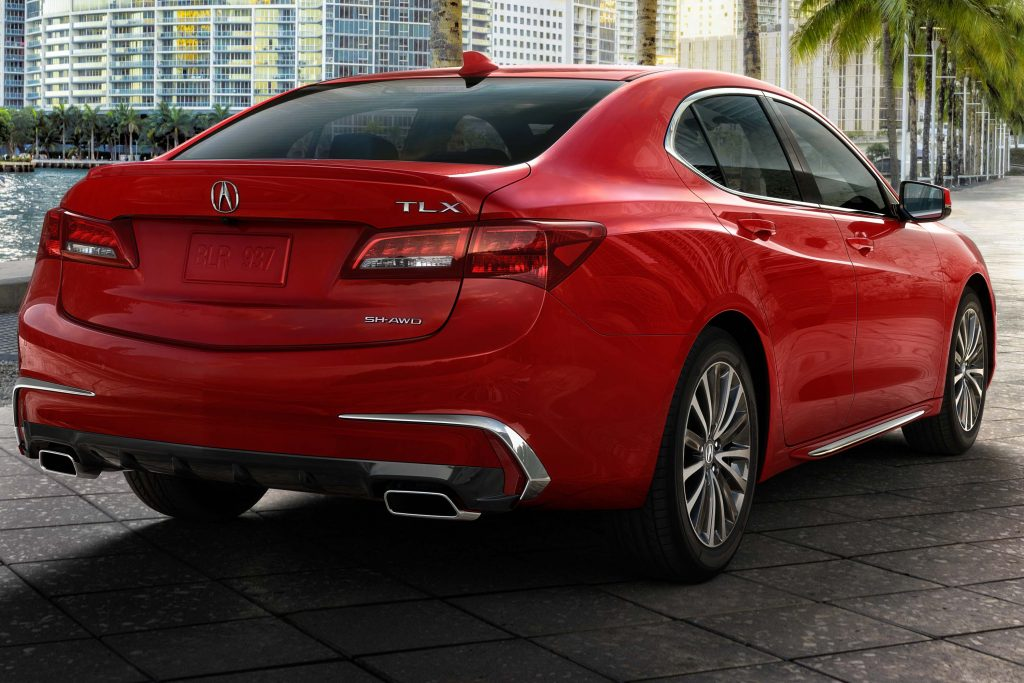 2018 Acura Tlx Rear Red