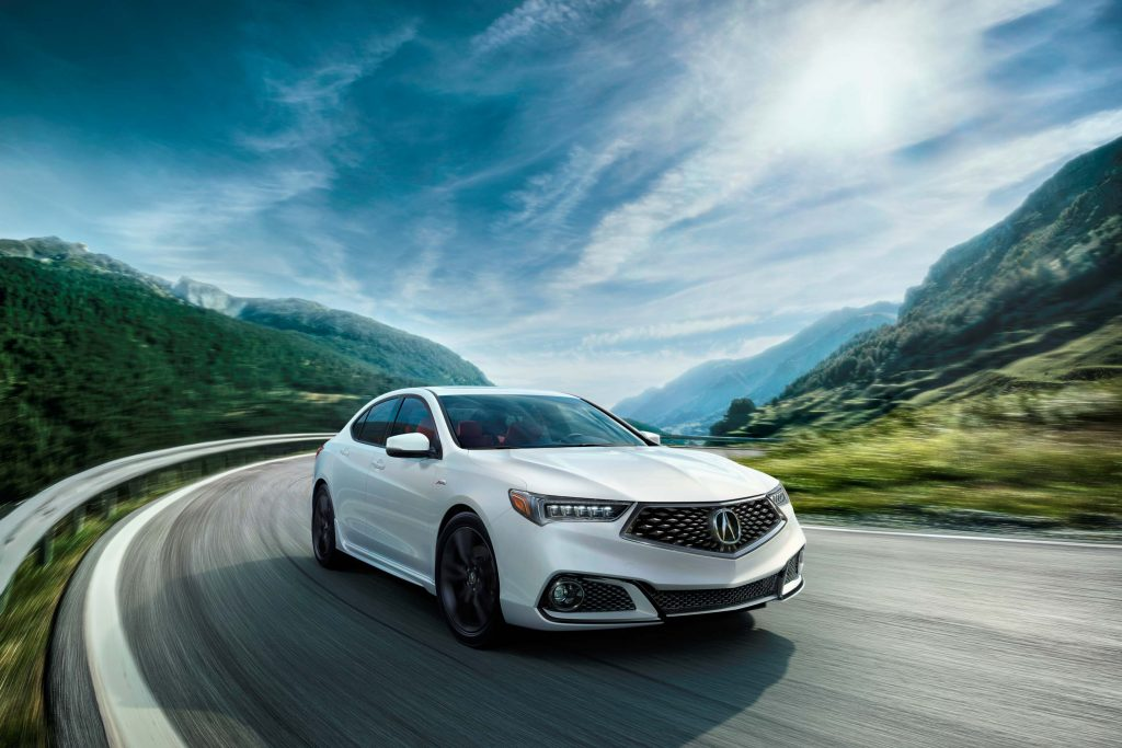 2018 Acura TLX A-Spec -front, white