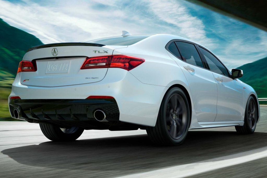 2018 Acura TLX A-Spec - rear, white