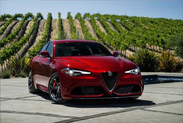 2017 Alfa Romeo Giulia Quadrifoglio - front, red