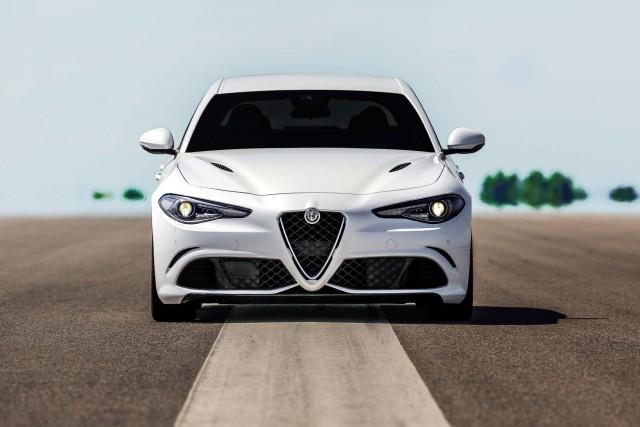 2017 Alfa Romeo Giulia Quadrifoglio - nose, white