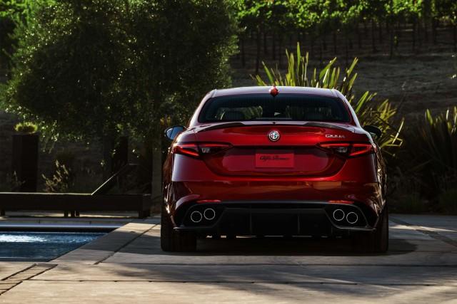 2017 Alfa Romeo Giulia Quadrifoglio - rear, red