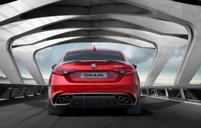 Type 952 Alfa Romeo Giulia Quadrifoglio Verde - rear, red