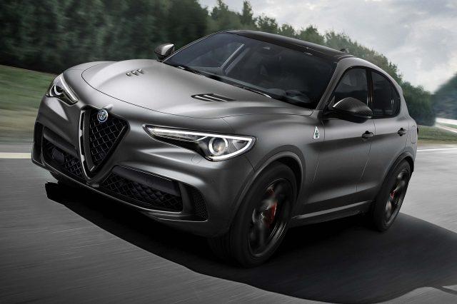 2018 Alfa Romeo Stelvio Quadrifoglio Nring - front, gray
