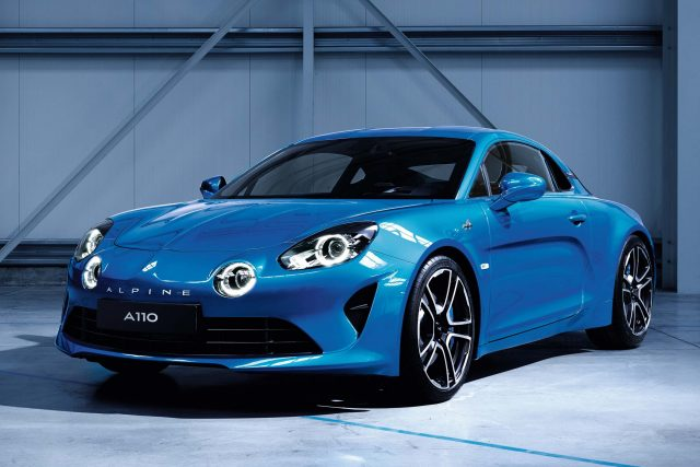 2017 Alpine A110 - front, blue