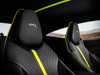 2018 Aston Martin DB11 AMR Signature Edition - seat, black with yellow stripe
