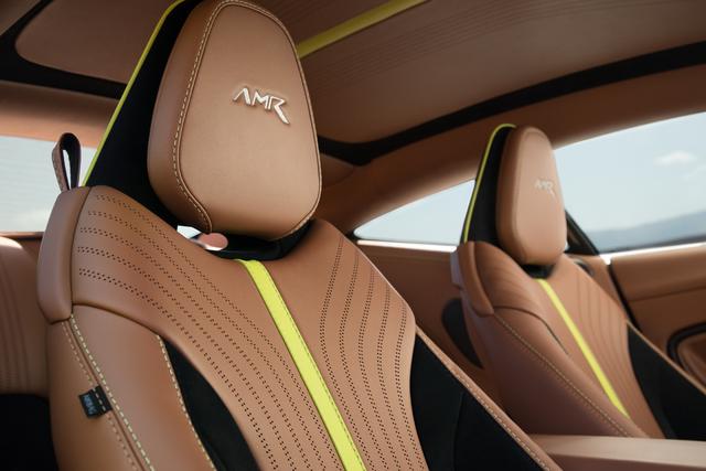 2018 Aston Martin DB11 AMR Signature Edition - tan leather, yellow stripe