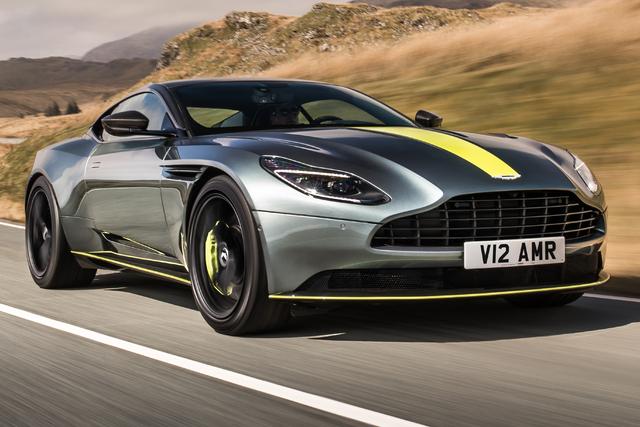 2018 Aston Martin DB11 AMR Signature Edition - front, yellow stripe