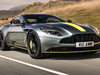 2018 Aston Martin DB11 AMR Signature Edition - front, yellow stripe