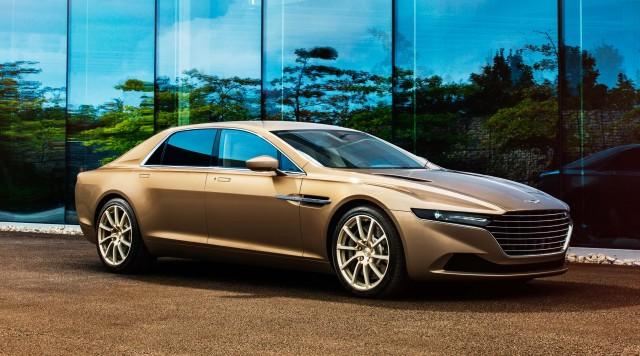 Aston Martin Lagonda Taraf - front, gold/champagne