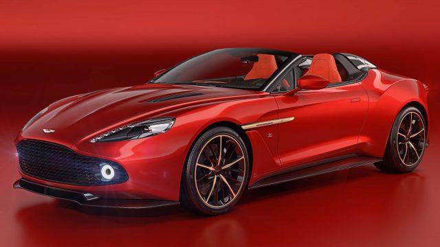 2018 Aston Martin Vanquish Zagato Speedster - front, red