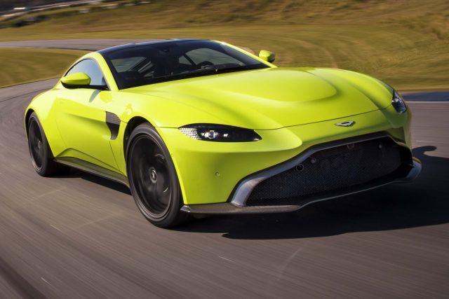 2018 Aston Martin Vantage - front, lime green