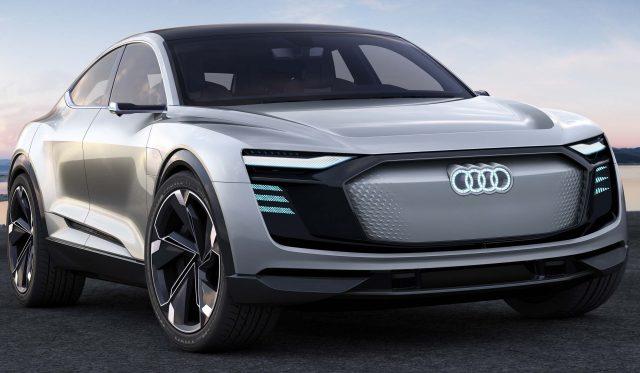 Audi e-tron Sportback concept - front, silver
