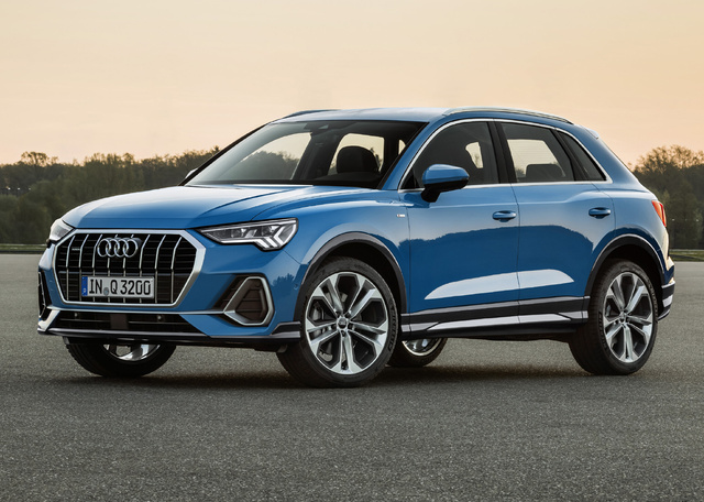 2019 Audi Q3 - front, turbo blue