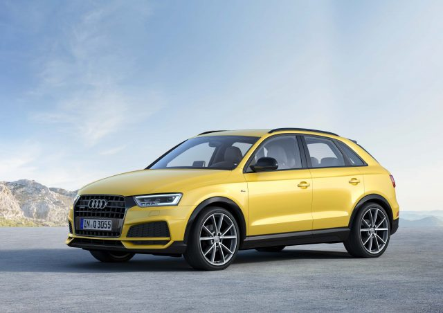 2017 Audi Q3 S Line Competition - front, yellow