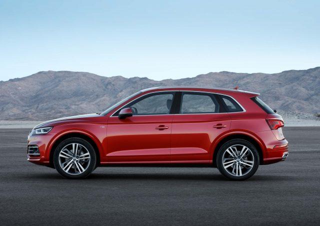 2017 Audi Q5 TFSI Quattro - side, red