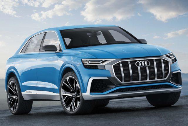 Audi Q8 concept - front, blue
