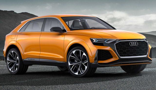 Audi Q8 Sport Concept - front, orange