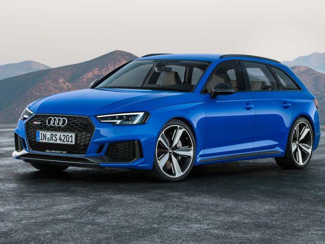 2018 Audi Rs4 Avant Front Blue