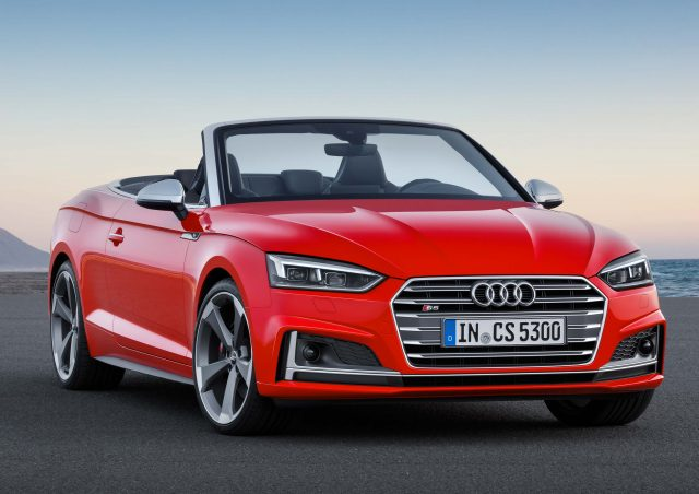 2017 Audi S5 Cabriolet Front Red Top Down