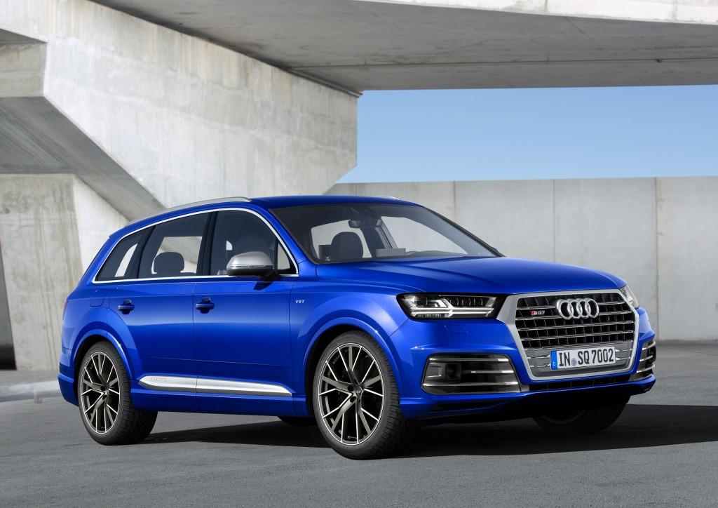 Audi SQ7 TDI (Type 4M) - front, blue