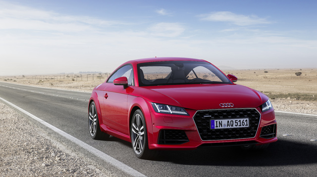 2019 Audi TT coupe facelift - front, red