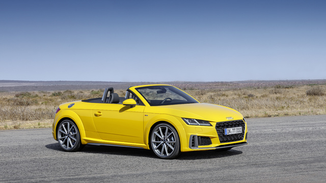 2019 Audi TT Roadster S-Line facelift - front, yellow