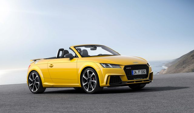 Audi TT RS roadster (Type 8S) - front, yellow