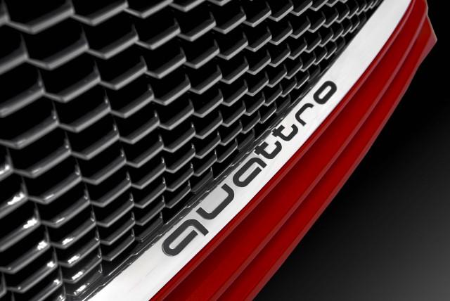 Audi TT Sportback concept - quattro insignia below grille
