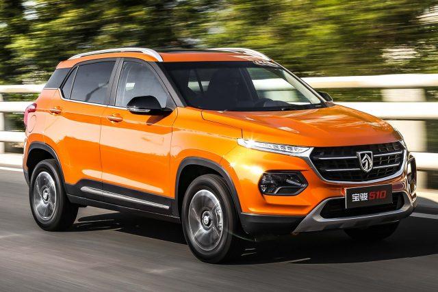 2017 Baojun 510 - front, orange