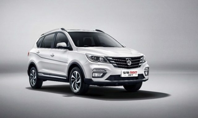 2017 Baojun 560 update - front, white