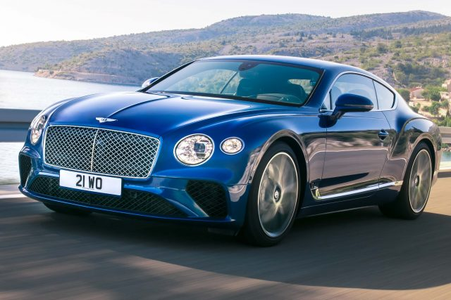 2018 Bentley Continental GT - front, blue