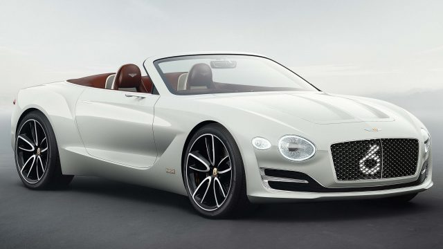 Bentley EXP 12 Speed 6e concept - front, white, convertible