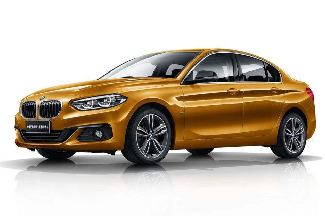 2017 BMW 1-Series sedan - front, gold