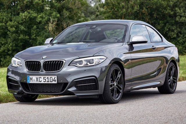 2017 BMW M240i coupe facelift - gray, front