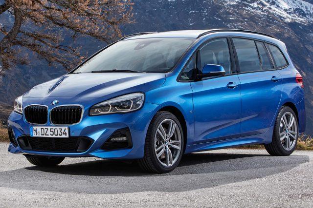 2018 F46 BMW 2 Series Gran Tourer facelift - front, blue