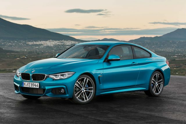 F32 BMW 440i M Sport coupe facelift - front, blue