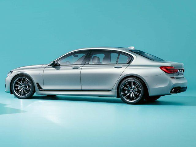 2017 BMW 7-Series 40 Jahre - side, rear, matt silver